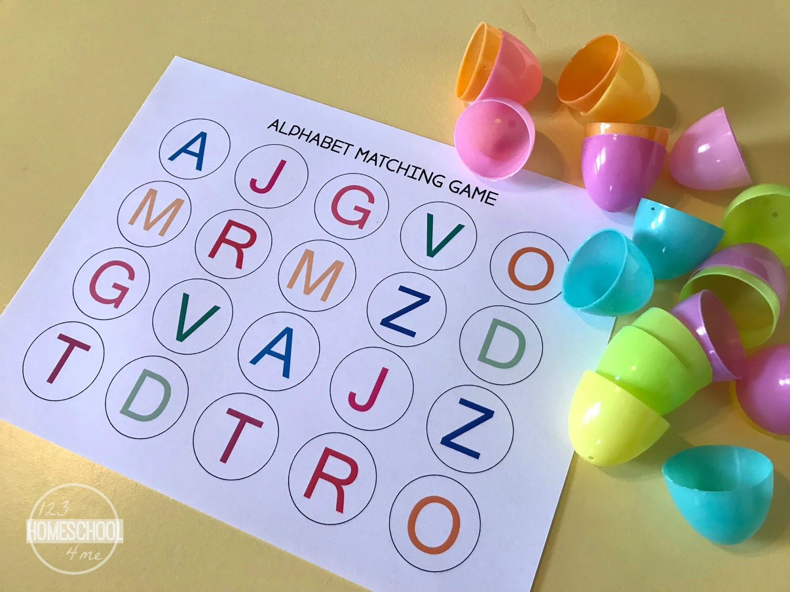 Free Alphabet Printable And Plastic Easter Eggs
