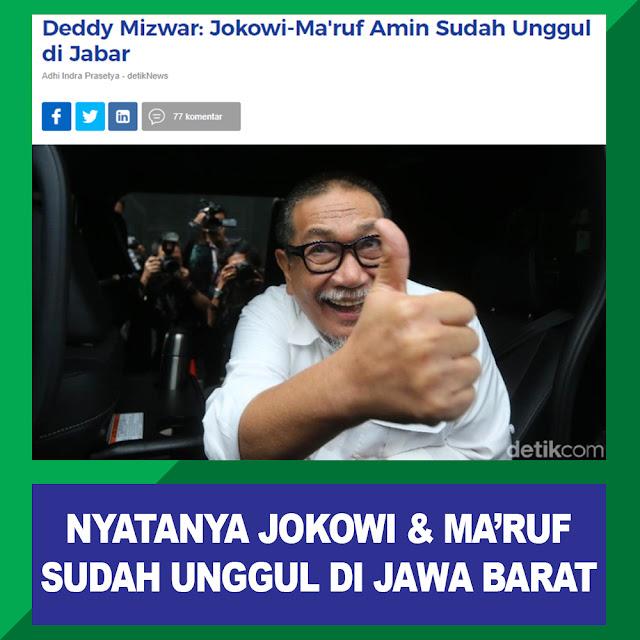 Deedy Mizwar: Jokowi-Ma'ruf Amin Sudah Unggul Di Jabar