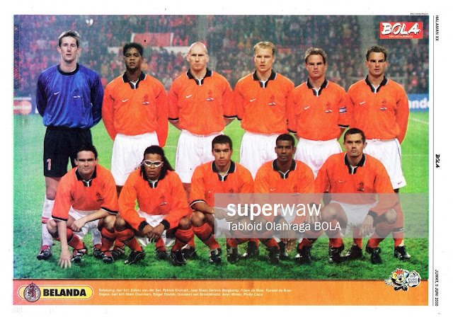 NETHERLAND HOLLAND FOOTBALL TEAM SQUAD EURO 2000