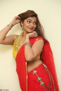 Actress Ashwini in Golden choli Red saree Spicy Pics ~  038.JPG