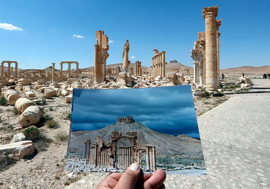 Shocking Pictures Illustrating Syrian Historical Monuments Destroyed By Daesh attacks - Triumph's Arch