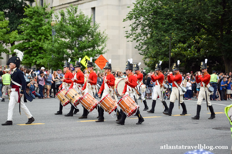 Parade in Washington, DC on July 4