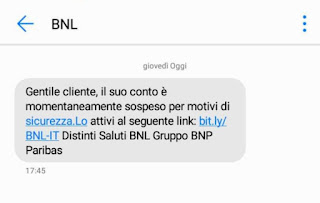 SMS truffa BNL – HelloBank