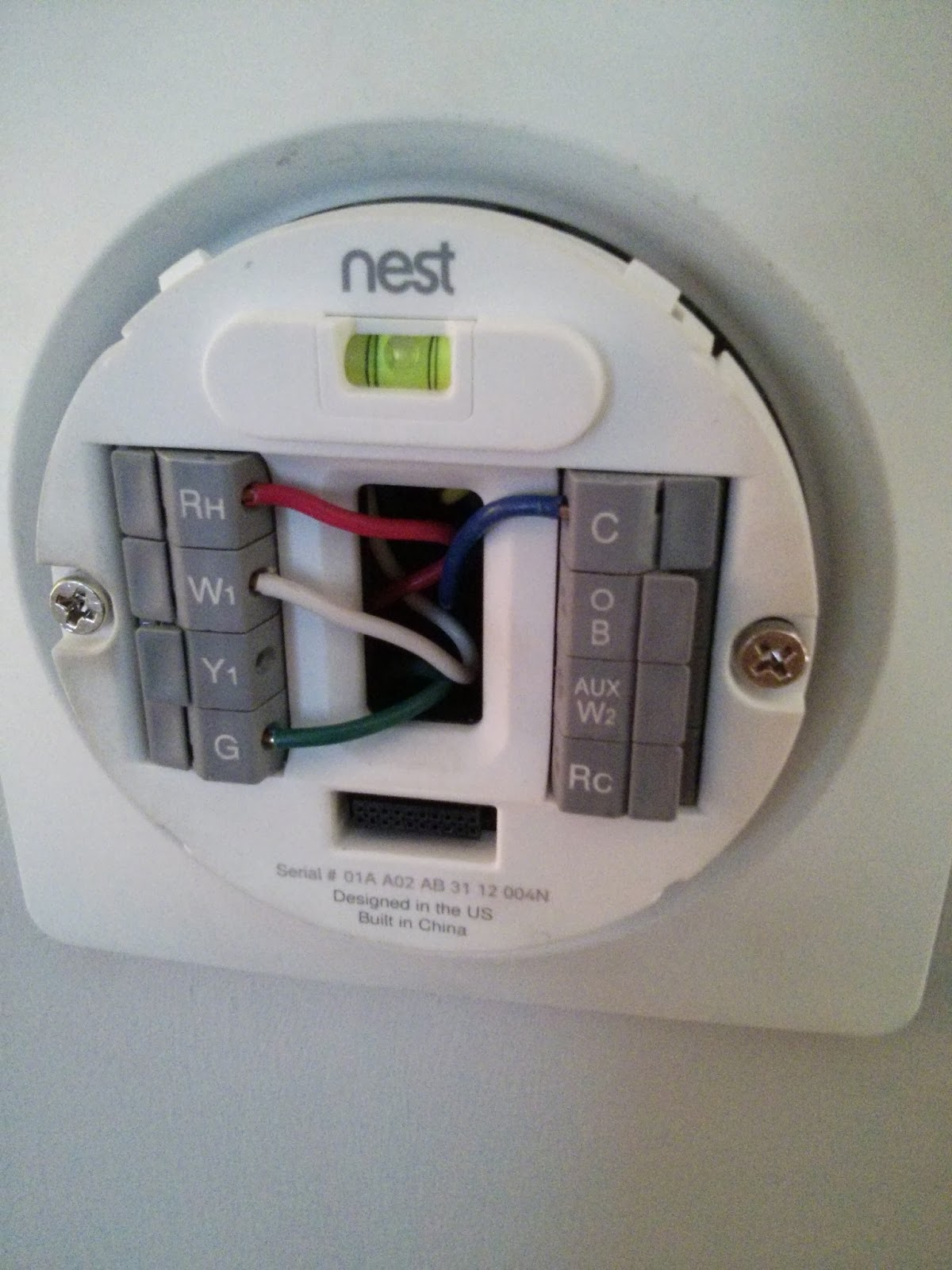 Trane Xr80 Furnace Problems Vs Nest Thermostat This House Needs Work Wiring Your Here It Is On The Other End Of Wire Version 1 Hardware