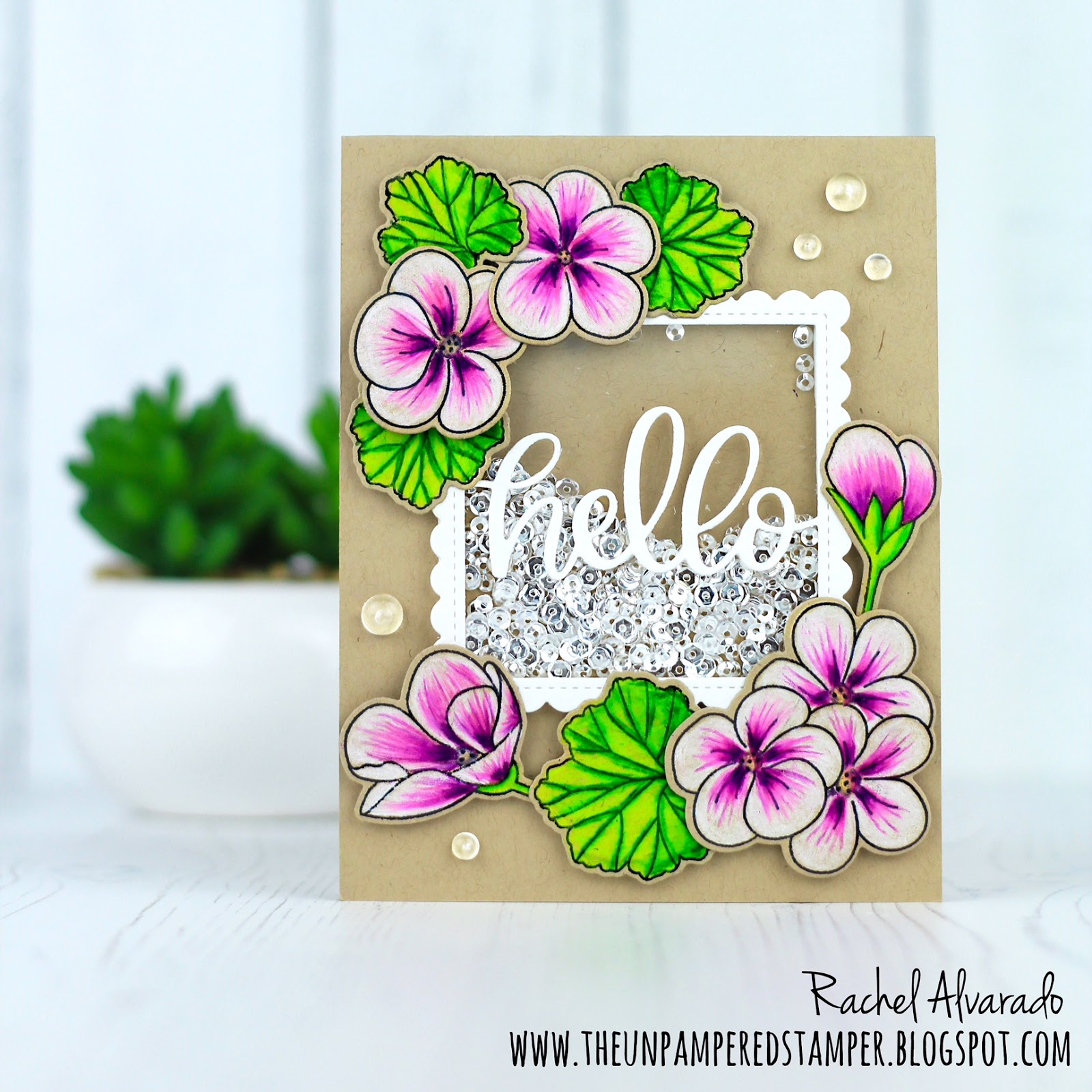 I First Stamped My Flowers And Leaves Onto Kraft Card