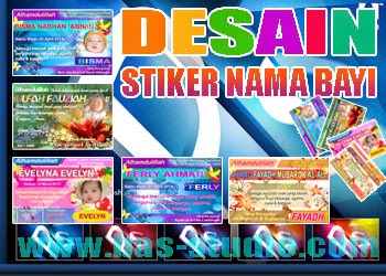 Desain Stiker Nama Bayi
