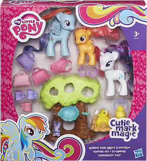 MLP Cutie Mark Magic Rainbow Dash, Rarity and Scootaloo Camping Set