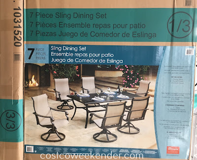 Costco 1031520 - Sunvilla 7 piece Sling Dining Set - great for bbqs and outdoor parties