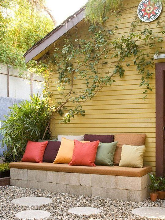 20 decoration ideas to make with concrete blocks 2