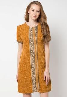 Contoh Dress Batik Terbaru