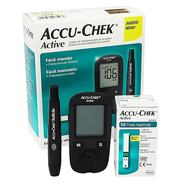 Accu-Chek Active Blood Glucose Monitor Set (Life time warranty)