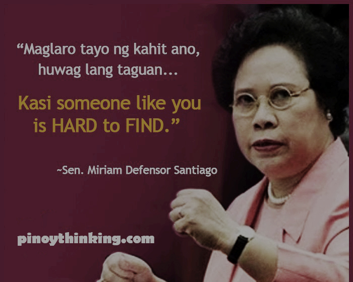 Famous Line Ng Mga Artista : Best hugot lines a tribute to miriam santiago