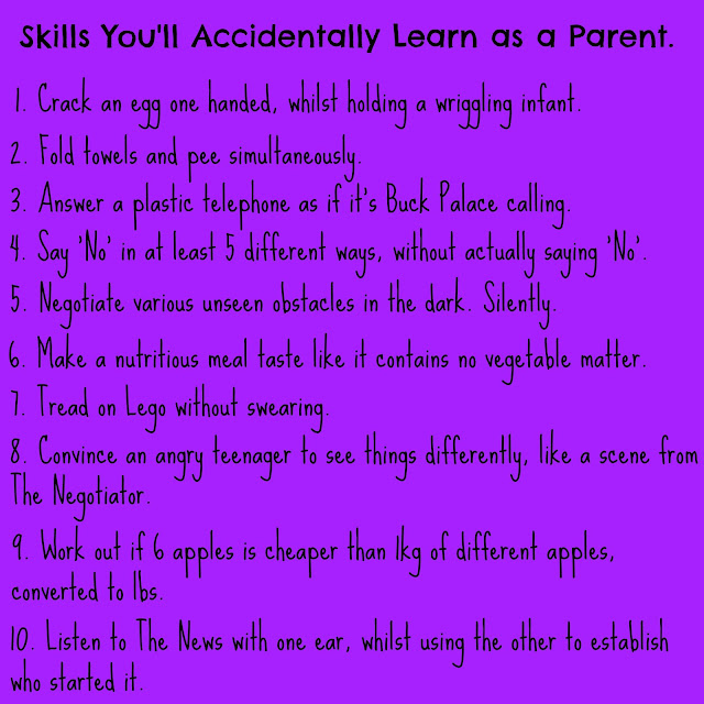 10 Skills Parents Learn