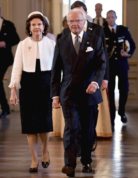 King Carl Gustaf and Queen Silvia attended that church service. Crown Princess Victoria, Prince Daniel, Prince Carl Philip and Princess Sofia