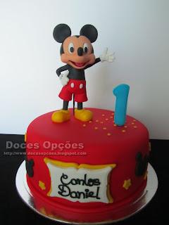 O Mickey no aniversário do Carlos Daniel
