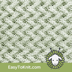 Twist Cable 19: Lattice | Easy to knit #knittingstitches #knittingpattern