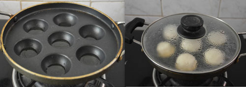 South Indian vada in paniyaram pan-low fat vada