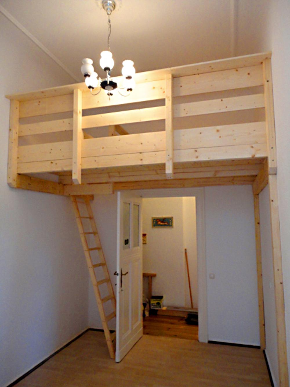 hochbett selber bauen dachschr ge. Black Bedroom Furniture Sets. Home Design Ideas