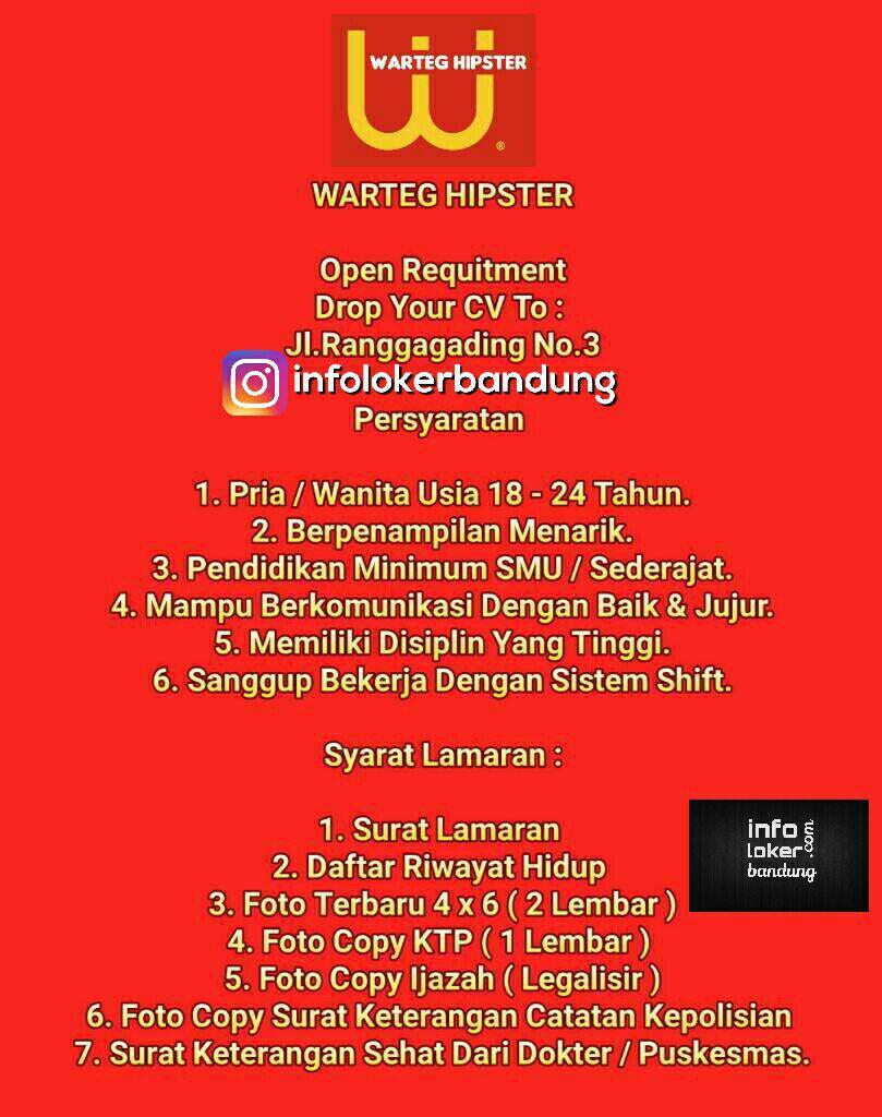 Lowongan Kerja Warteg Hipster Bandung Mei 2017
