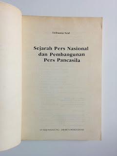 Sejarah Pers Nasional Dan Pembangunan Pers Pancasila