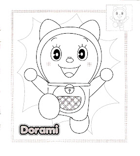 Yellow Coloring Pages: Doraemon Coloring Pages