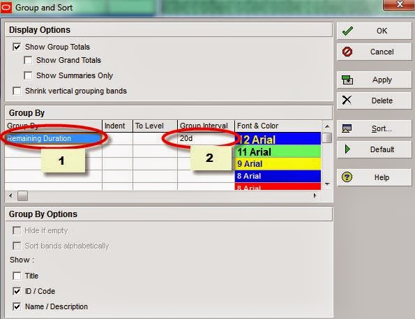 Toolbox4Planning: 3 Ways to View Activity Count Tutorial for P6