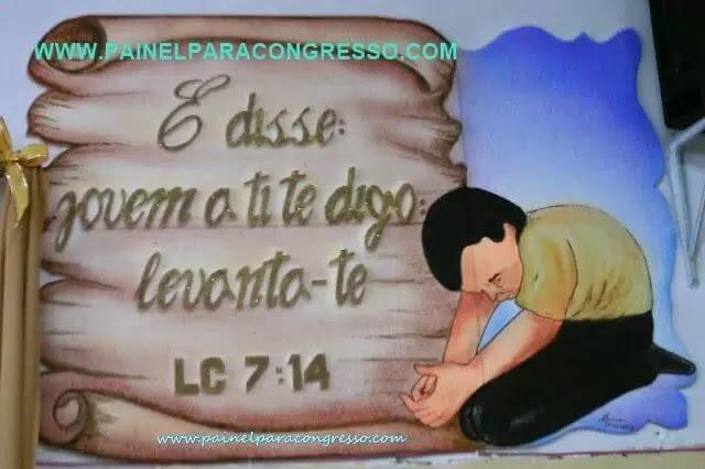 isopor pintado Painel com desenho   /   Lucas 7:14