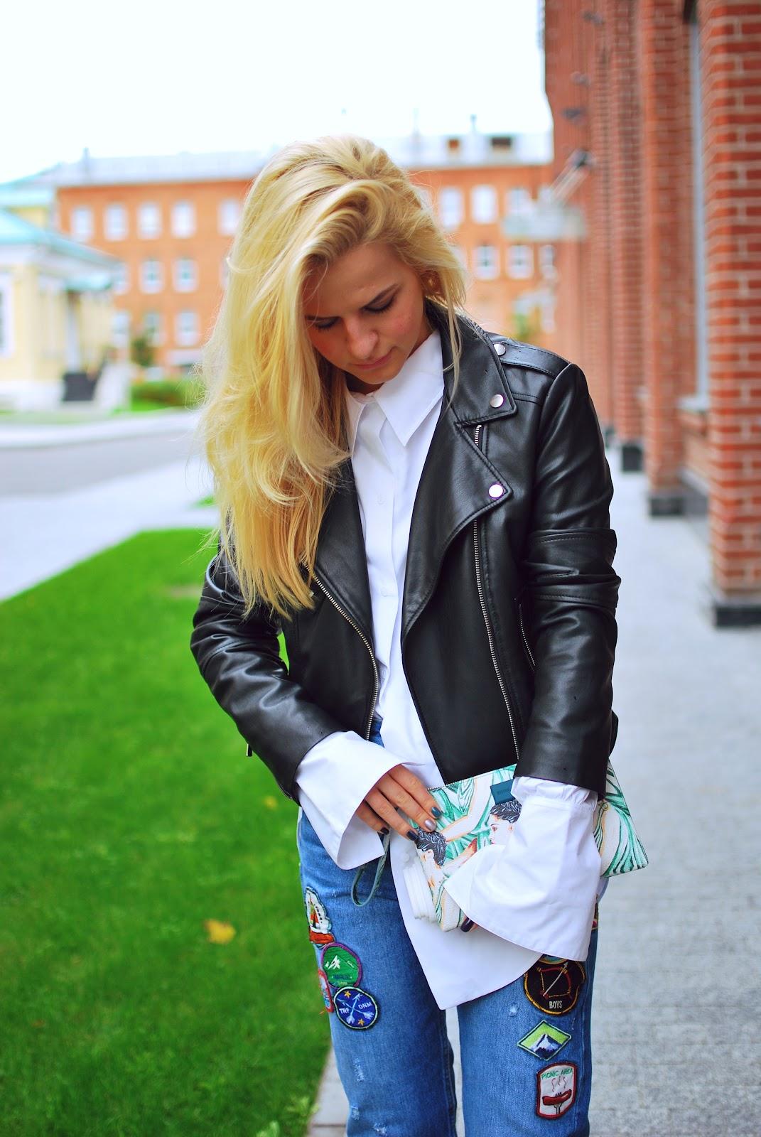уличная мода, уличная мода осень, джинсы с патчами, джинсы с заплатками, идеи что носить, с чем надеть джинсы, what to wear jeans, street style blogger, fashion blogger moscow, russian fashion blogger