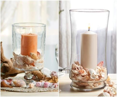 Clear Glass Candle Holder Coastal Decor Ideas