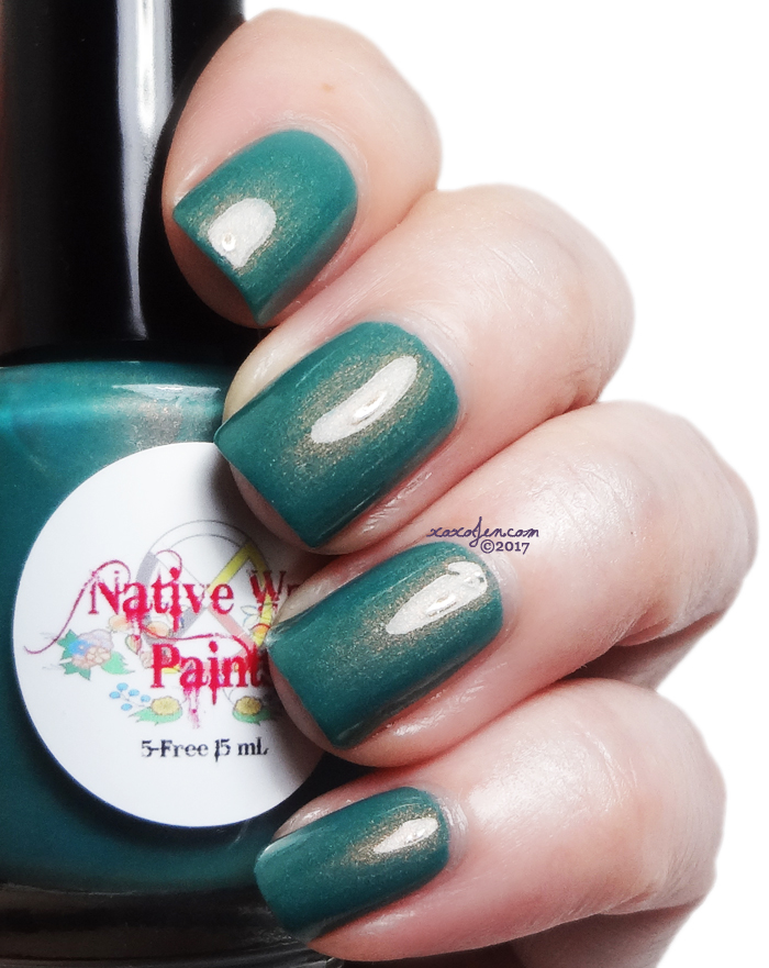 xoxoJen's swatch of Native War Paints My Favorite Copper Sweater