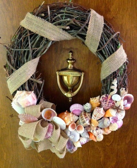 sanibel shell wreath