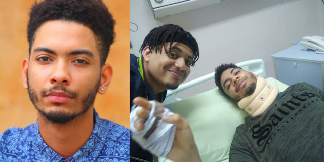 Ex-Big Brother Naija housemate K-Brule involved in a road accident (Photos)
