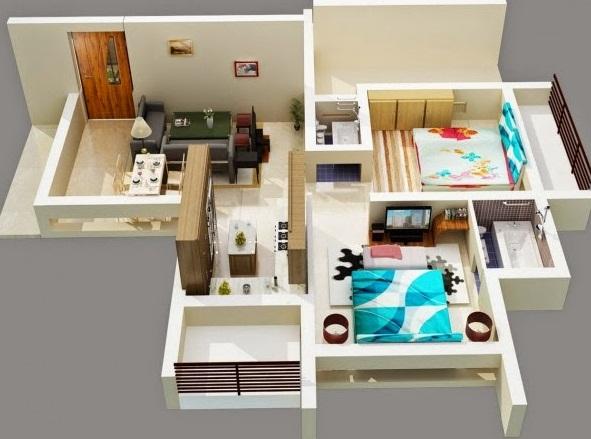Rumah merupakan sebuah kawasan tinggal bagi insan sehabis lelah beraktivitas seharian Gambar Denah Rumah Minimalis Terbaru 1 Lantai