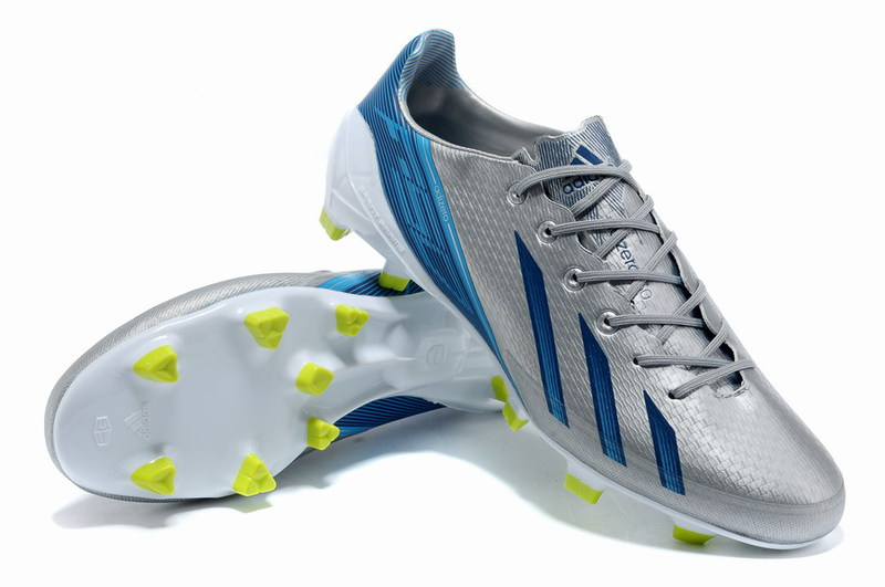 huge selection of 2c542 50c69 Adidas F50 adiZero in Silver and Blue