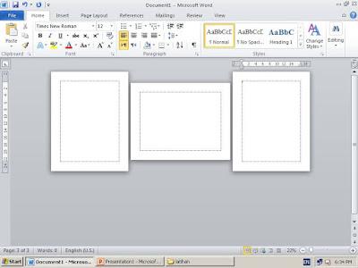 Cara mudah Membuat Page Layout Landscape dan Portrait Dalam Satu File Word
