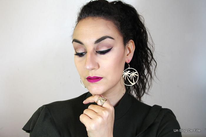 Un blog de fille: Maquillage   Nude et violet [MSC
