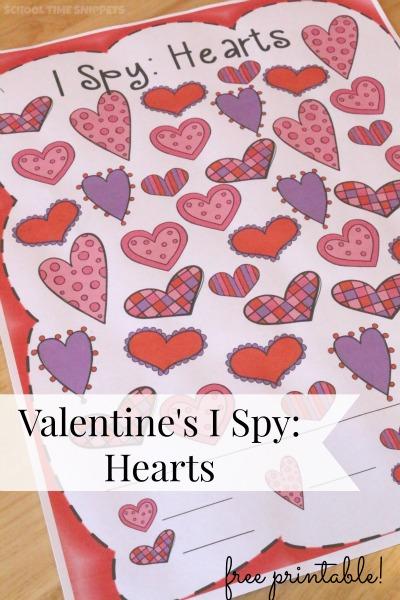 Valentine's Day Math Printable Activity