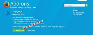 Anonymox Membuka Situs yang Diblokir Mozilla Laptop 2018