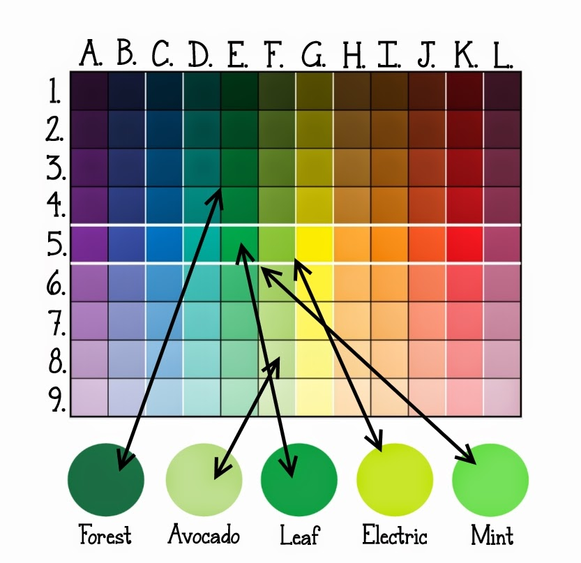 Icing color theory and  chart lilaloa also rh