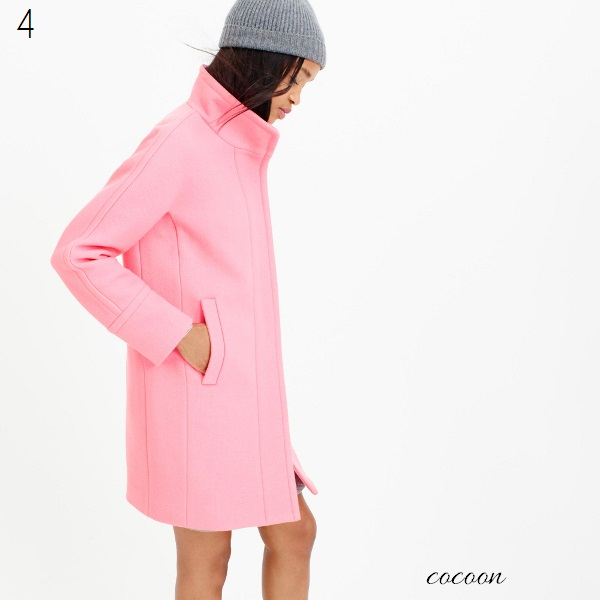 J. Crew stadium cloth cocoon coat