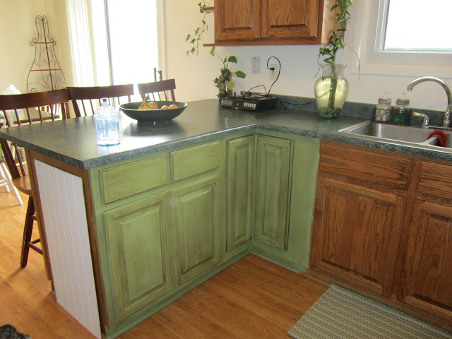 Annie Sloan Chalk Paint to redo kitchen cabinets by Girl in Air