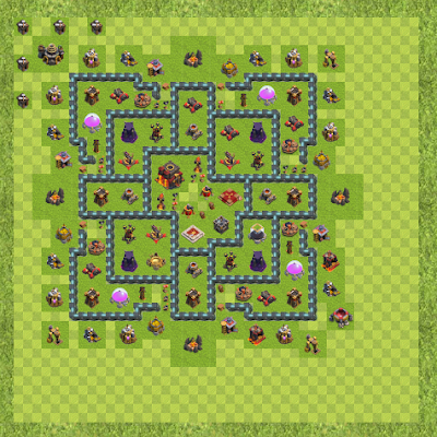 War Base Town Hall Level 10 By Banglebuck (Banglebuck TH 10 Layout)