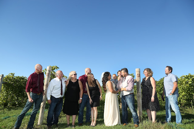 vineyard wedding family photo