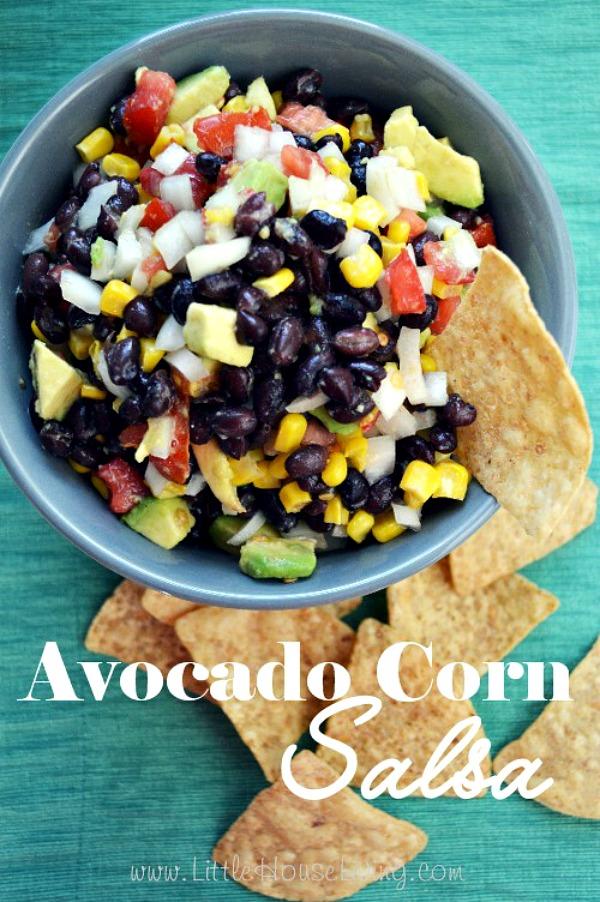 Avocado Corn Salsa from Little House Living