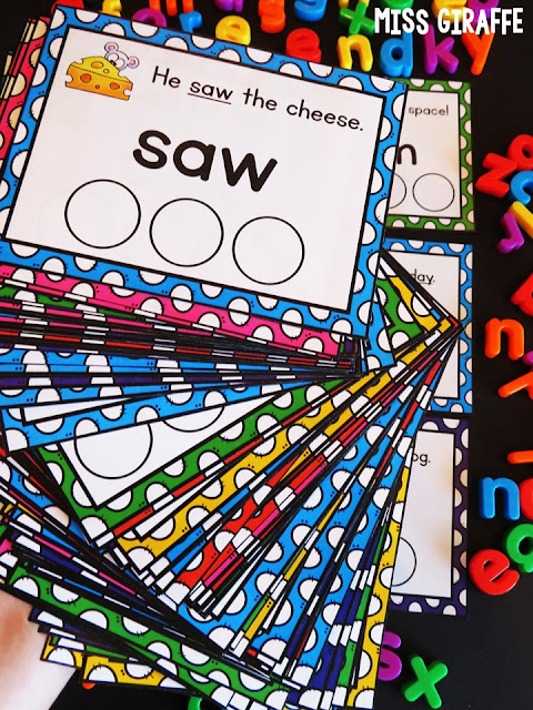 Sight words sentence cards for soo many high frequency words!! Read this to check out all the fun ways to use them!