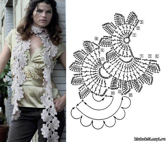 Patron Crochet Bufanda Medias Flores
