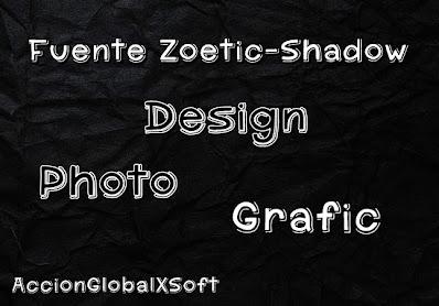 Tipografía Fuente Zoetic-Shadow