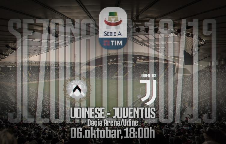 Serie A 2018/19 / 8. kolo / Udinese - Juventus, subota, 18:00h