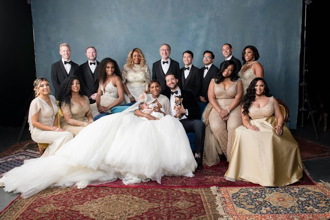 Official photos released from Serena Williams & Alexis Ohanian's white wedding.....their daughter is so adorable!