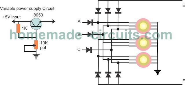Simple RGB Color Mixer using Transistors